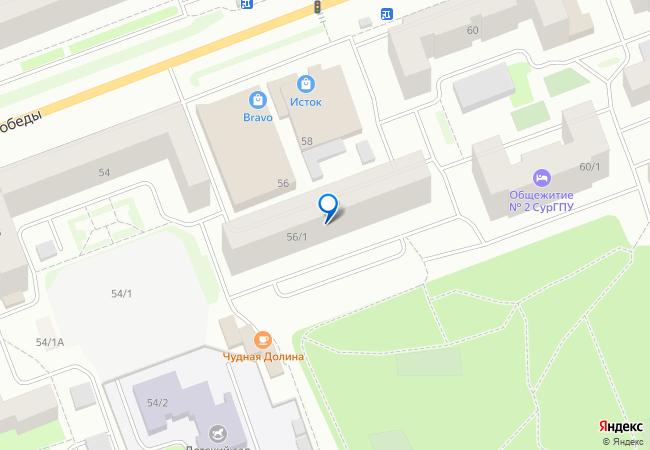 улица 30 лет Победы, 56 1 на карте Сургута, организации, фото подробно c07dcbc95e2