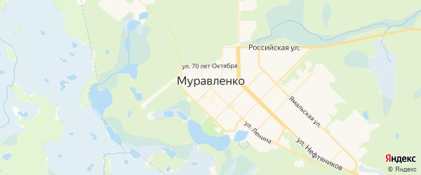 Карта Муравленко с районами, улицами и номерами домов