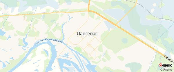 Карта Лангепаса с районами, улицами и номерами домов
