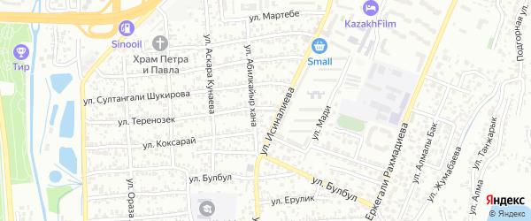 Микрорайон 5а на карте Байконура с номерами домов