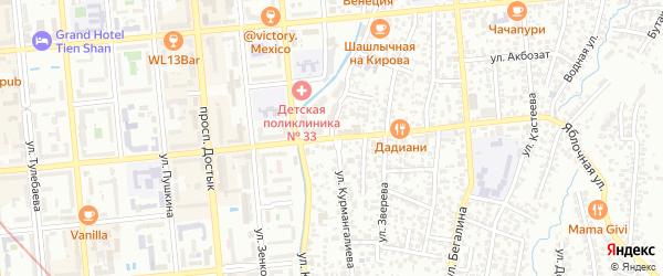 Речная улица на карте Байконура с номерами домов