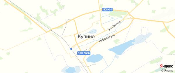 Карта Купино с районами, улицами и номерами домов: Купино на карте России
