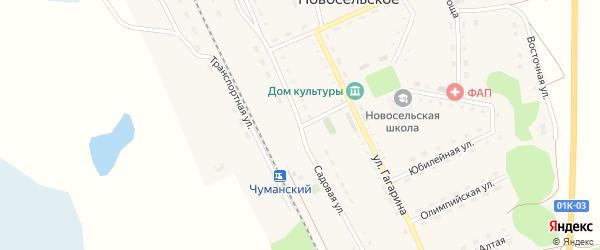 Садовая улица на карте Новосельского села с номерами домов
