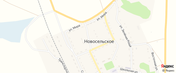 Первомайский переулок на карте Новосельского села с номерами домов