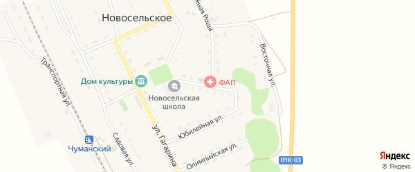 Школьная улица на карте Новосельского села с номерами домов