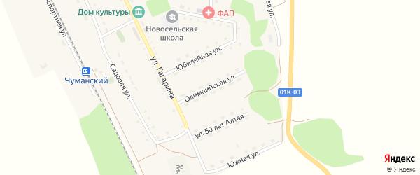 Олимпийская улица на карте Новосельского села с номерами домов