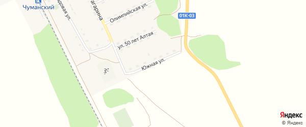 Южная улица на карте Новосельского села с номерами домов