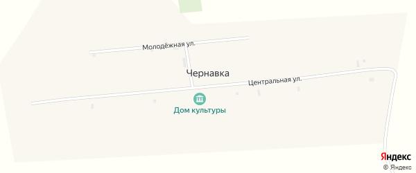 Центральная улица на карте села Чернавки с номерами домов
