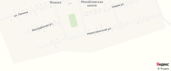 Новосовхозная улица на карте села Михайловки с номерами домов
