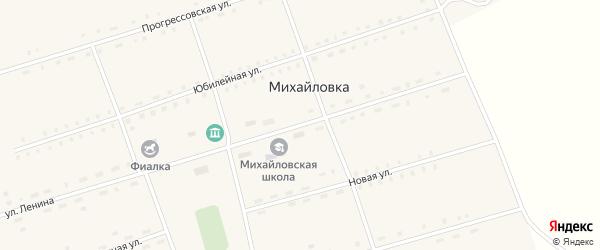 Улица Ленина на карте села Михайловки с номерами домов