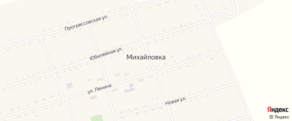 Юбилейная улица на карте села Михайловки с номерами домов