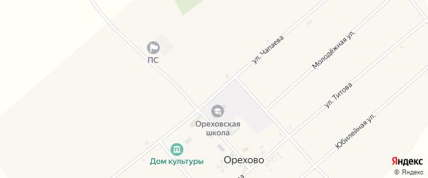 Улица Чапаева на карте села Орехово с номерами домов