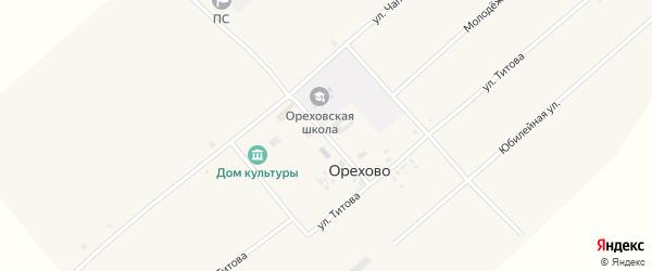 Улица Титова на карте села Орехово с номерами домов