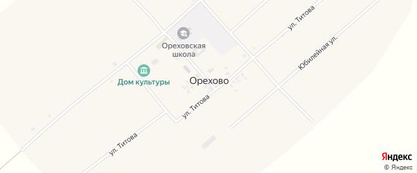 Молодежная улица на карте села Орехово с номерами домов