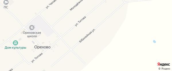 Юбилейная улица на карте села Орехово с номерами домов
