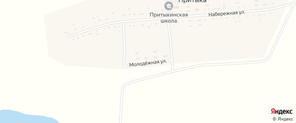 Молодежная улица на карте села Притыки с номерами домов