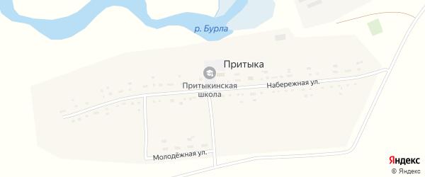 Набережная улица на карте села Притыки с номерами домов