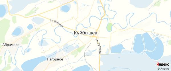 Карта Куйбышева с районами, улицами и номерами домов