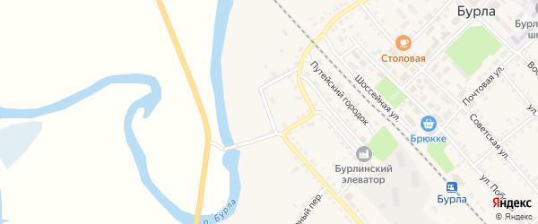 Улица Приречный угол на карте села Бурлы с номерами домов