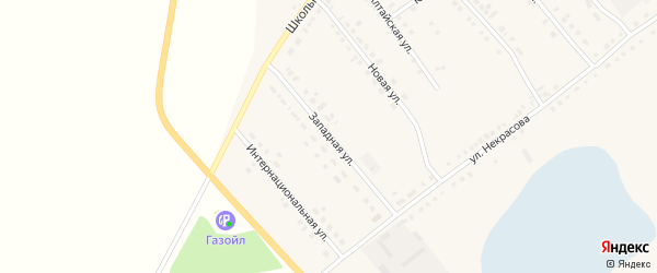Западная улица на карте села Бурлы с номерами домов