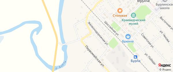 Набережная улица на карте села Бурлы с номерами домов