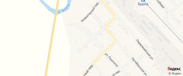 Совхозный переулок на карте села Бурлы с номерами домов