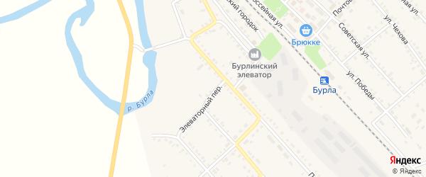 Элеваторный переулок на карте села Бурлы с номерами домов