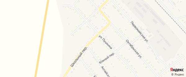 Школьный переулок на карте села Бурлы с номерами домов