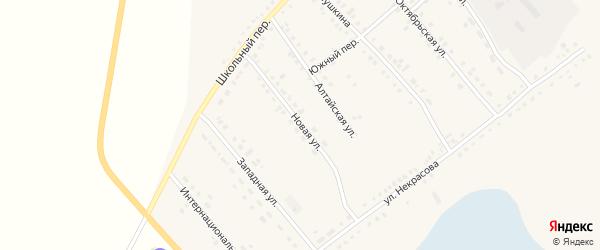 Новая улица на карте села Бурлы с номерами домов
