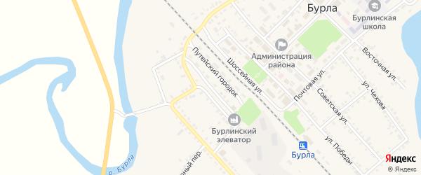 Железнодорожная улица на карте Мирного разъезда с номерами домов