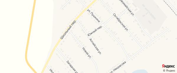 Алтайская улица на карте села Бурлы с номерами домов