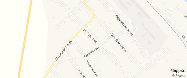 Улица Пушкина на карте села Бурлы с номерами домов