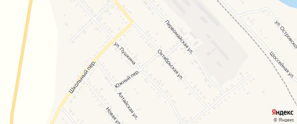 Южный переулок на карте села Бурлы с номерами домов