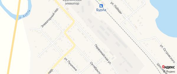 Первомайская улица на карте села Бурлы с номерами домов