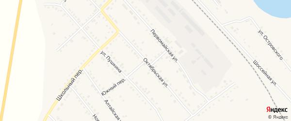 Октябрьская улица на карте села Бурлы с номерами домов