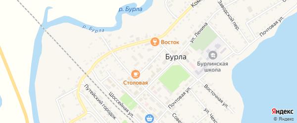 Советский переулок на карте села Бурлы с номерами домов