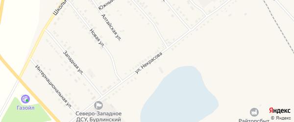 Улица Некрасова на карте села Бурлы с номерами домов