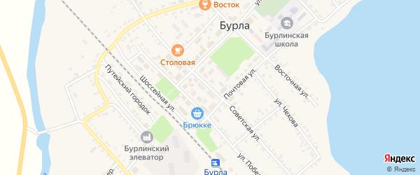 Советская улица на карте села Бурлы с номерами домов
