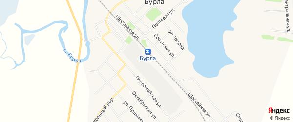 Карта села Бурлы в Алтайском крае с улицами и номерами домов