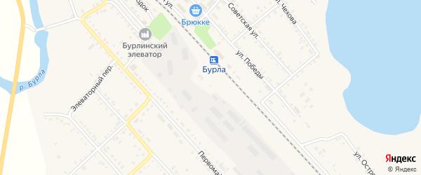 Улица Путейский городок на карте села Бурлы с номерами домов