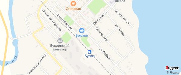 Улица Победы на карте села Бурлы с номерами домов
