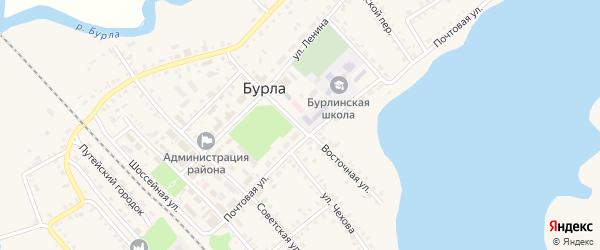 Восточная улица на карте села Бурлы с номерами домов