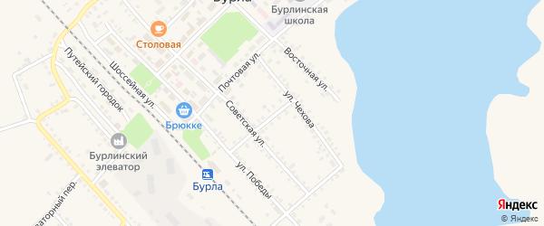 Вокзальный переулок на карте села Бурлы с номерами домов