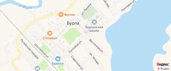 Почтовая улица на карте села Бурлы с номерами домов