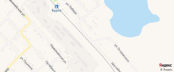 Шоссейная улица на карте села Бурлы с номерами домов