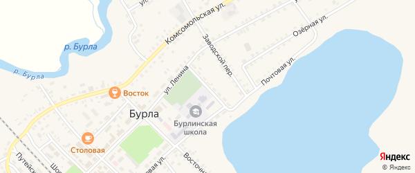 Спортивный переулок на карте села Бурлы с номерами домов