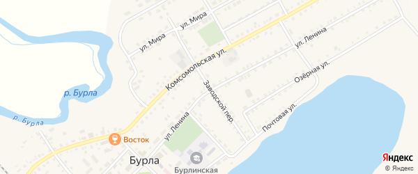 Заводской переулок на карте села Бурлы с номерами домов