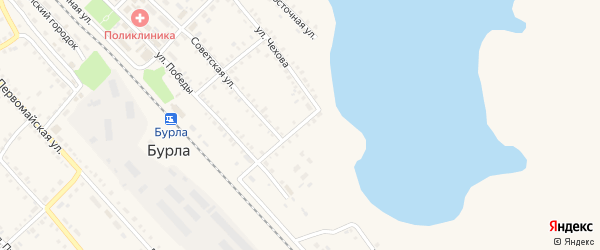 Озерный переулок на карте села Бурлы с номерами домов