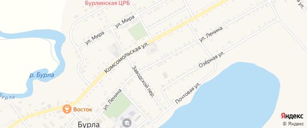 Улица Ленина на карте села Бурлы с номерами домов