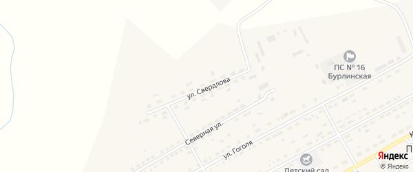 Улица Свердлова на карте села Бурлы с номерами домов